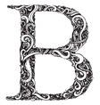 B letter capital black vector image vector image