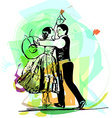 Couple dancing marinera vector image vector image