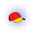Baseball cap icon comics style vector image