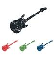 Guitar grunge icon set vector image