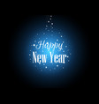 happy new year bright stars and snowflakes form vector image