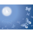 Lunar butterfly vector image