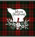 merry christmas greeting card invitation hand vector image