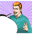 pop art of man showing ily vector image