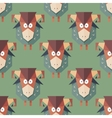 Seamless pattern of cartoon funny sheeps vector image
