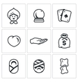 Set of The Seer and Healer Icons Grandma vector image