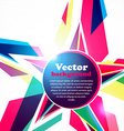 Star frame for your text Abstract background vector image