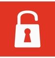 The open lock icon Lock symbol Flat vector image