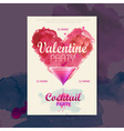 Valentine disco poster Valentine background vector image