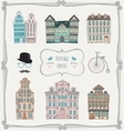 Vintage Old Styled Houses vector image