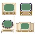 Old TV Vintage Set Retro Apparatus vector image