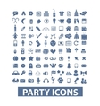party birthday celebration icons set vector image