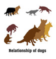 group of dogs vector image