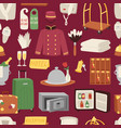 hotel or accommodation icon set travel symbol vector image