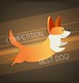 dog - modern phrase flat vector image