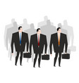 business team crowd managers many businessmen vector image