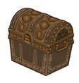 old classic closed treasure chest isolated vector image
