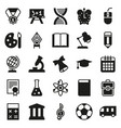 black simple icon collection school education vector image