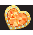 heart with diamond vector image vector image