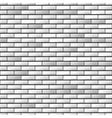 Seamless realistic brick wall vector image