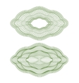 oval guilloche rosettes vector image vector image