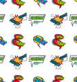 Set of Comic Text Pop Art style seamless pattern vector image