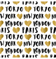 City Names Seamless Pattern vector image