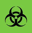 biohazard symbol in flat style vector image