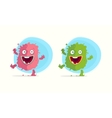 Cartoon monster character vector image