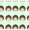 Set of Character Lip-Sync pattern vector image
