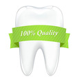 Tooth With Tape vector image