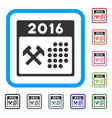 2016 working days framed icon vector image