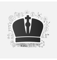 Drawing business formulas crown vector image