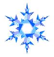 origami snowflake in vector image vector image