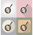 food objects flat icons 02 vector image