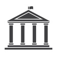 Academic Temple Outline Icon vector image