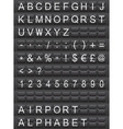 airport alphabet vector image