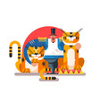 animal trainer with tiger vector image