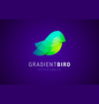 bird logo template in modern gradient style vector image