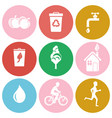 ecology and health protection isolated round icons vector image