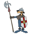Funny gothic warrior vector image