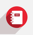 modern document red circle icon vector image