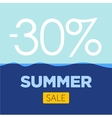 summer sale poster with sea background vector image