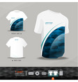Abstract uniform t-shirt design vector image vector image