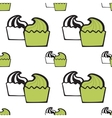 Green pistachio ice cream cake or frozen yogurt vector image