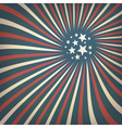 patriotic rays background vector image vector image