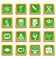 education icons set green vector image vector image