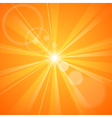 Abstract orange background with sun rays vector image vector image