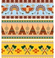 Tribal Ethnic Vintage Background vector image