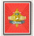 Type Christmas design with deer and sunburst rays vector image vector image